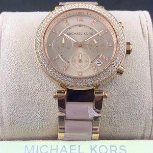 Michael Kors Rose Gold-Tone Parker Watch